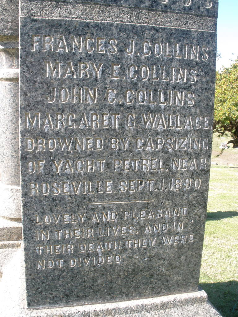 Epitaph on Collins - Wallace monument