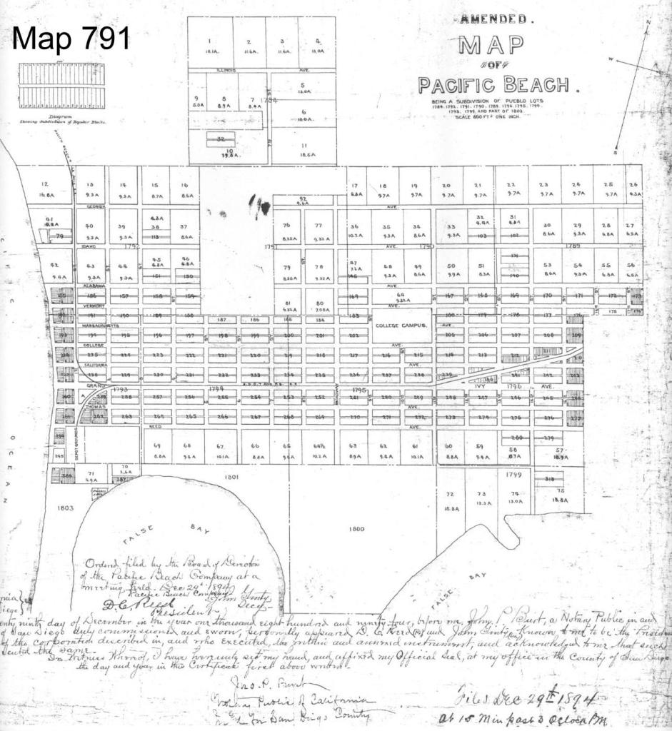 Map 791, recorded December 1894