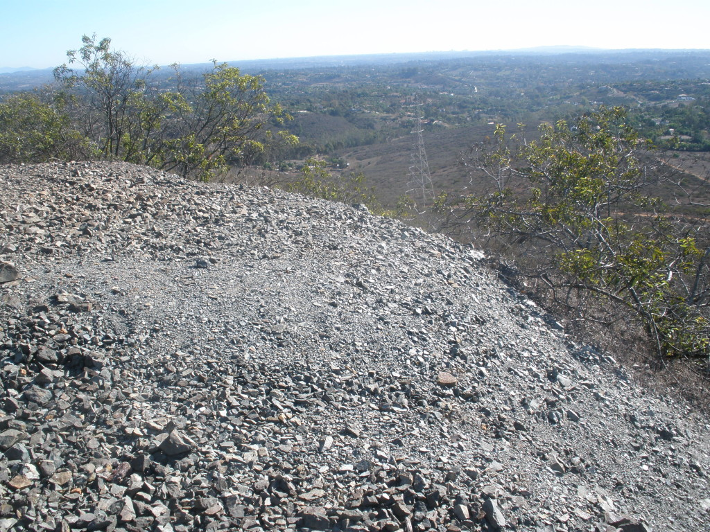 Copper tailings on Denk Mountain.