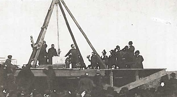 Laying the Cornerstone, San Diego College of Letters, January 28, 1888